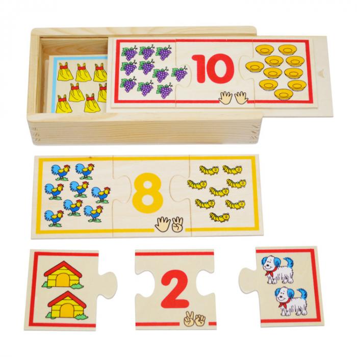 Jucarie educativa puzzle de asociere - invatam numerele [0]