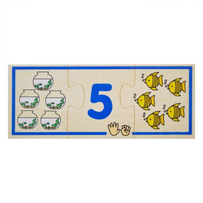 Jucarie educativa puzzle de asociere - invatam numerele [6]