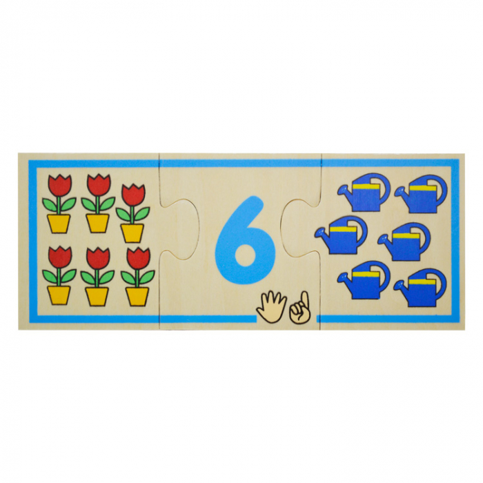 Jucarie educativa puzzle de asociere - invatam numerele [7]