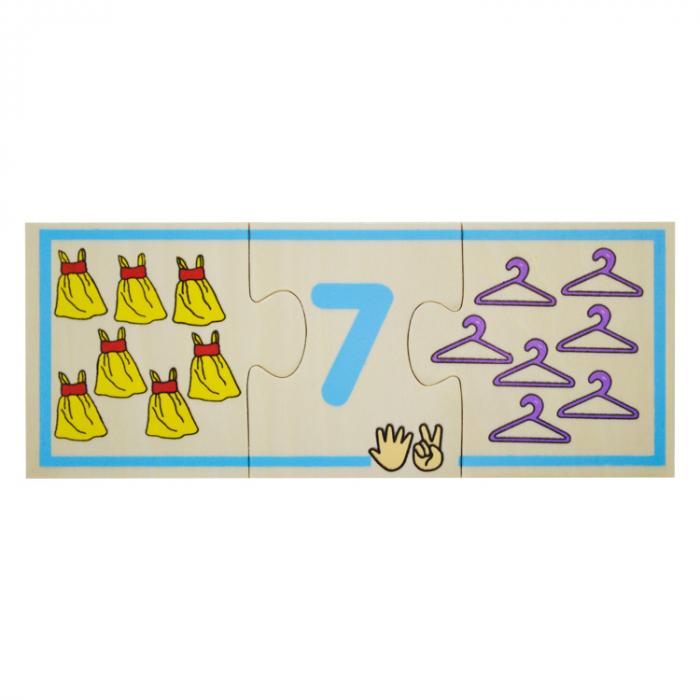 Jucarie educativa puzzle de asociere - invatam numerele [8]