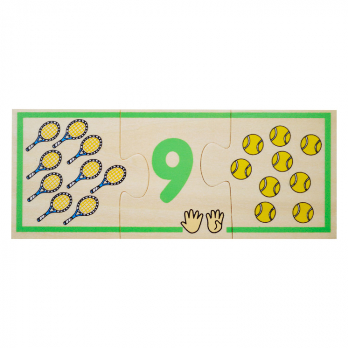 Jucarie educativa puzzle de asociere - invatam numerele [10]