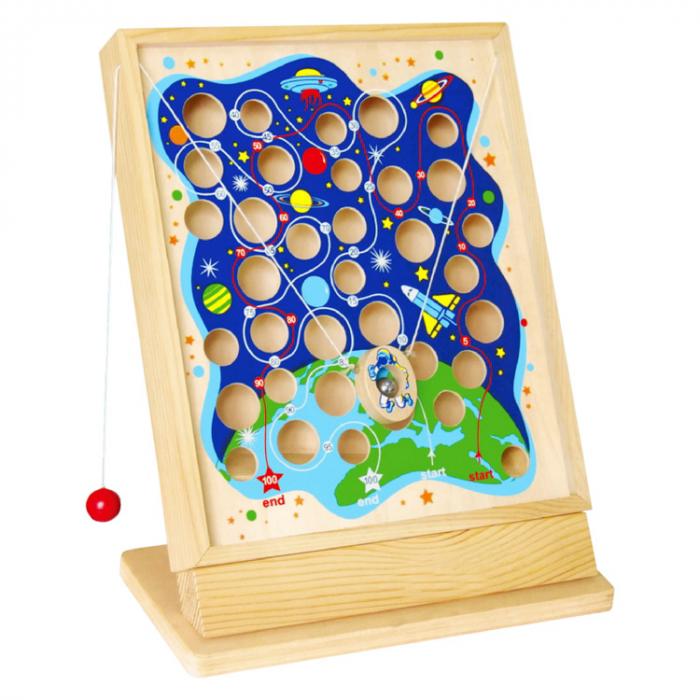 Labirint motric din lemn cu bile nava spatiala [0]