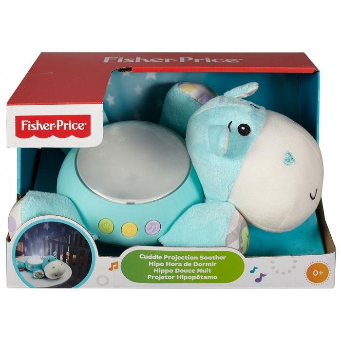 Lampa de veghe plus Newborn Hipopotam  albastru Fisher Price [4]