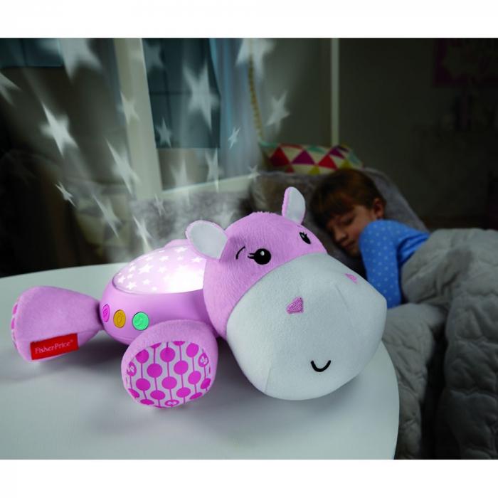 Lampa de veghe plus Newborn Hipopotam roz Fisher Price [3]