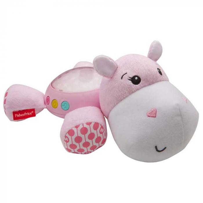 Lampa de veghe plus Newborn Hipopotam roz Fisher Price [0]