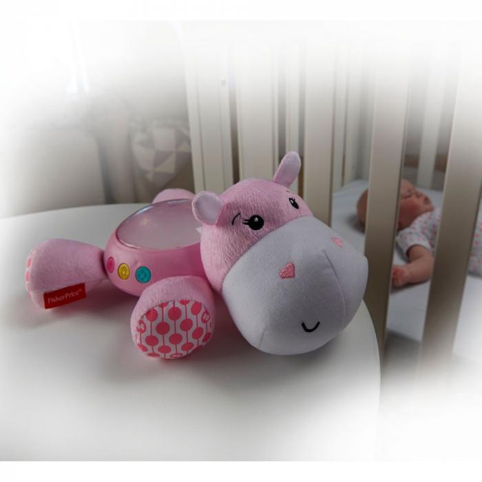Lampa de veghe plus Newborn Hipopotam roz Fisher Price [2]