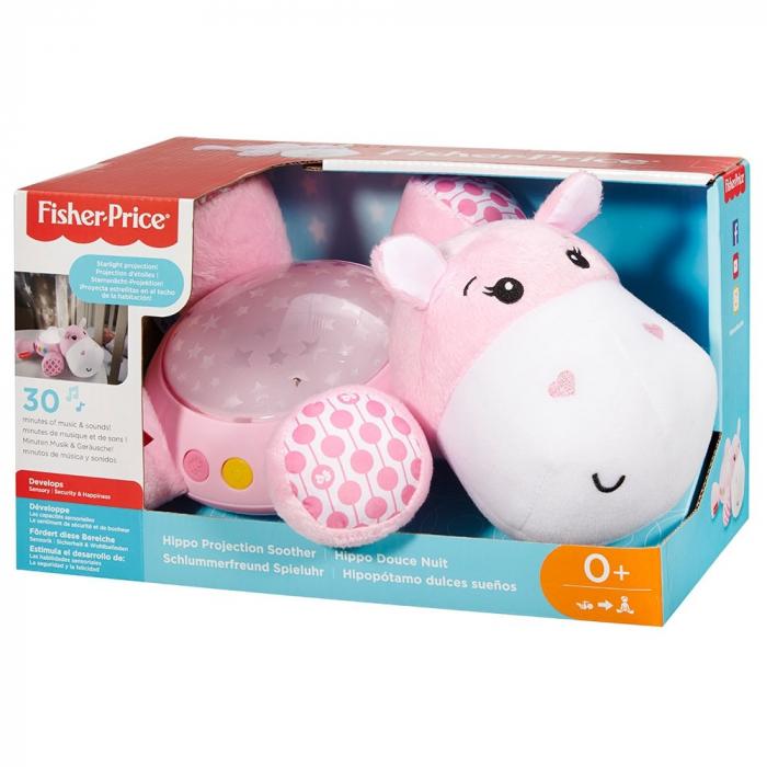 Lampa de veghe plus Newborn Hipopotam roz Fisher Price [4]