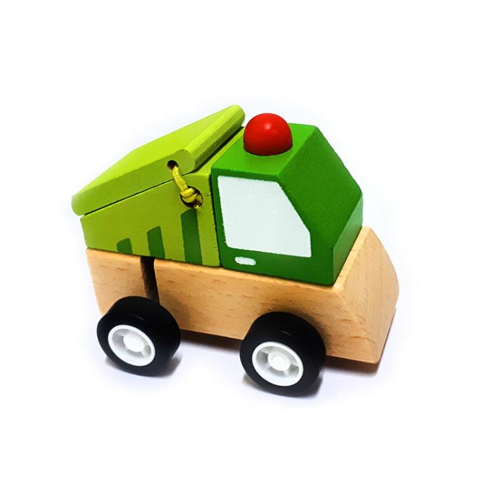 Masinuta pentru deseuri mica din lemn cu propulsie [0]