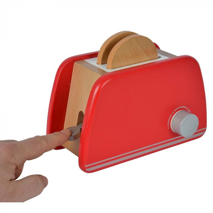 Prăjitor de pâine din lemn cu accesorii pentru mic dejun, Eichhorn [4]