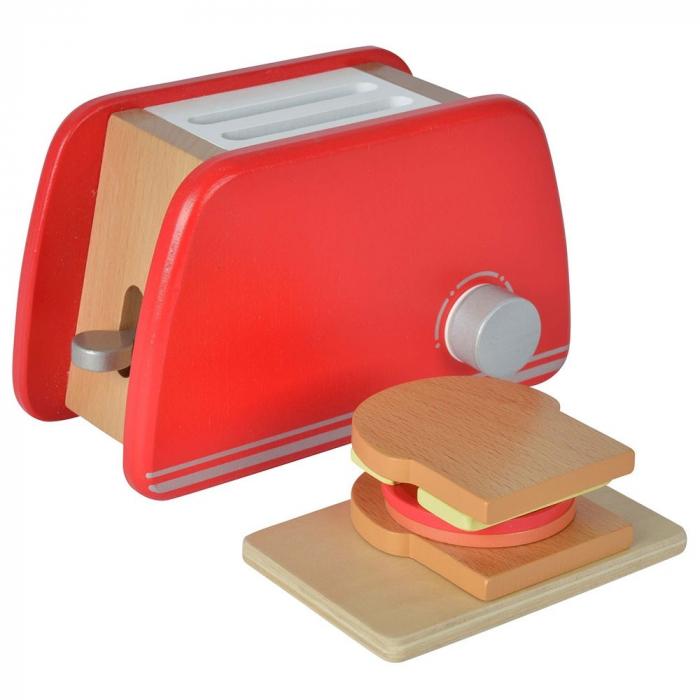 Prăjitor de pâine din lemn cu accesorii pentru mic dejun, Eichhorn [0]
