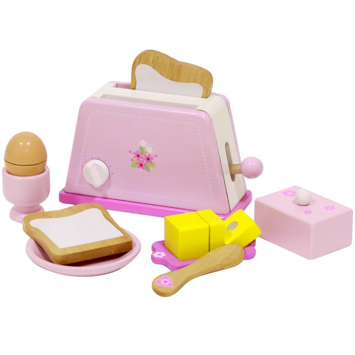 Prajitor de paine din lemn cu accesorii pentru mic dejun, Mentari [0]