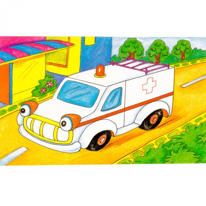 Puzzle cuburi din lemn 15 piese cu vehicule [6]