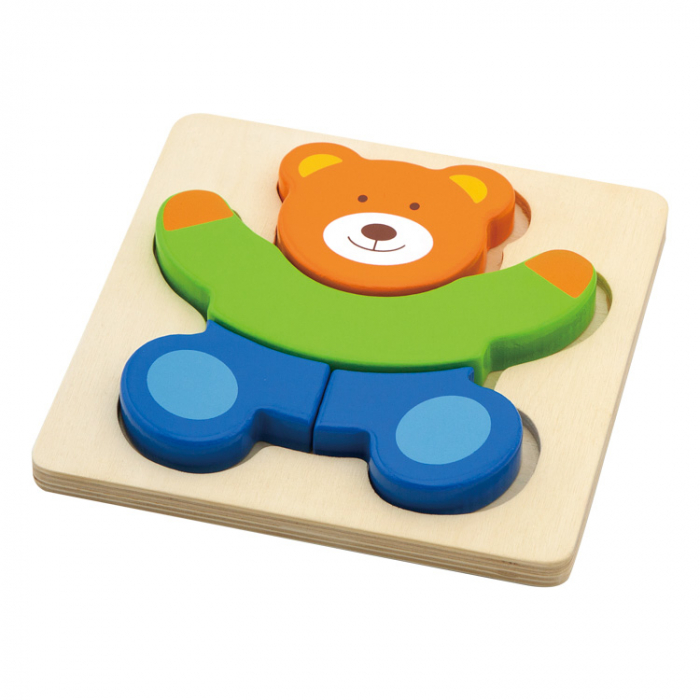 Puzzle din lemn- Ursulet, Viga [0]