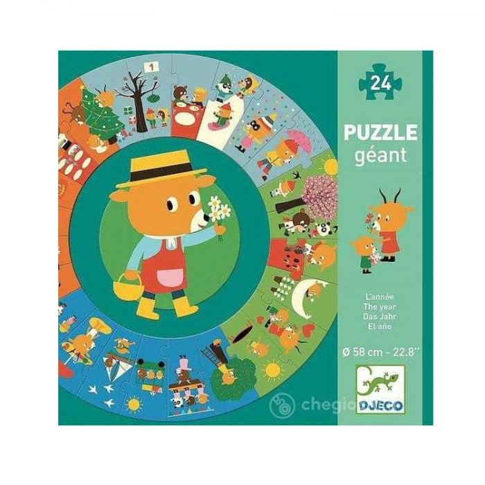 Puzzle gigant circular 24 piese Djeco, anotimpurile [1]