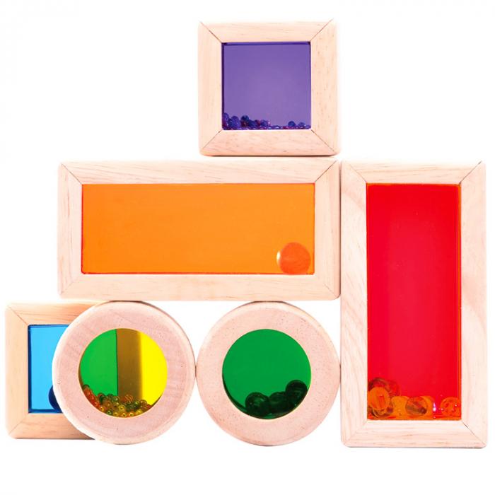 Set cuburi de construcţie zornăitoare colorate [3]