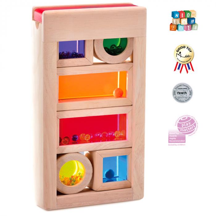 Set cuburi de construcţie zornăitoare colorate [0]