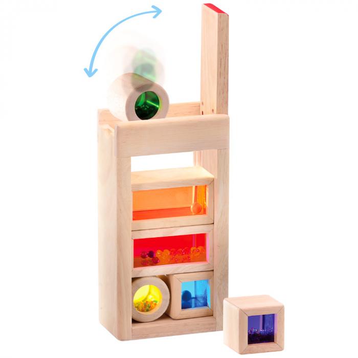Set cuburi de construcţie zornăitoare colorate [4]