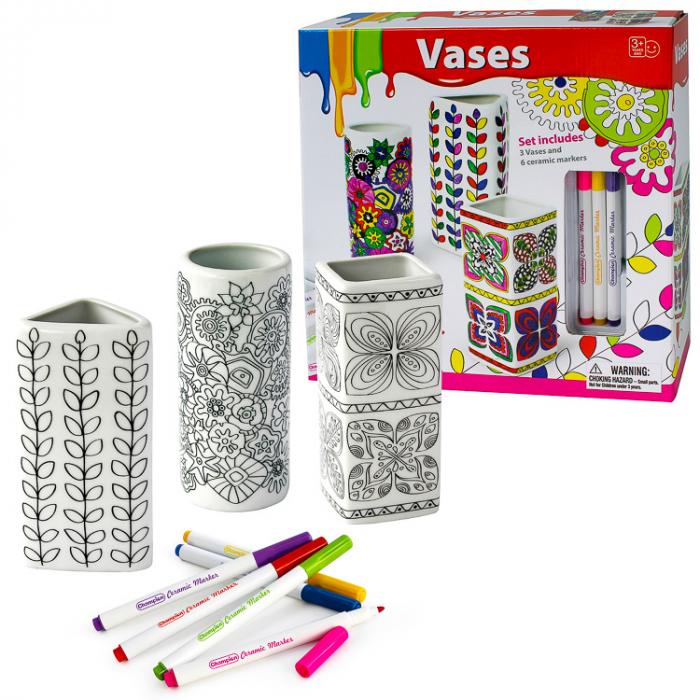 Set de colorat 3 vaze din portelan (set 3 buc) [0]
