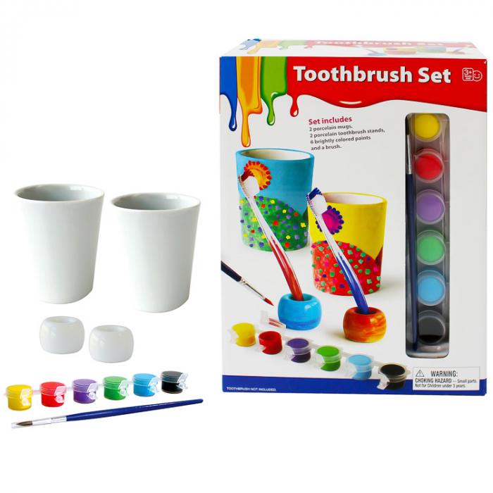 Set de colorat accesorii DIY pentru spalarea dintilor [0]