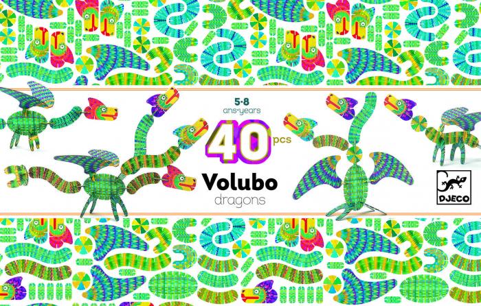 Set de construit creativ Volubo dragoni, Djeco [0]