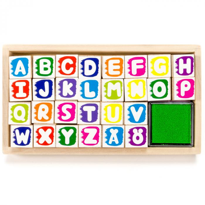 Set de stampile cu alfabet [0]
