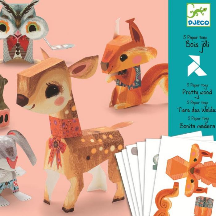 Set DIY creaza animale din hartie Djeco [0]