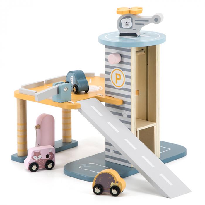 Set garaj cu lift si masinute din lemn Polar B [0]
