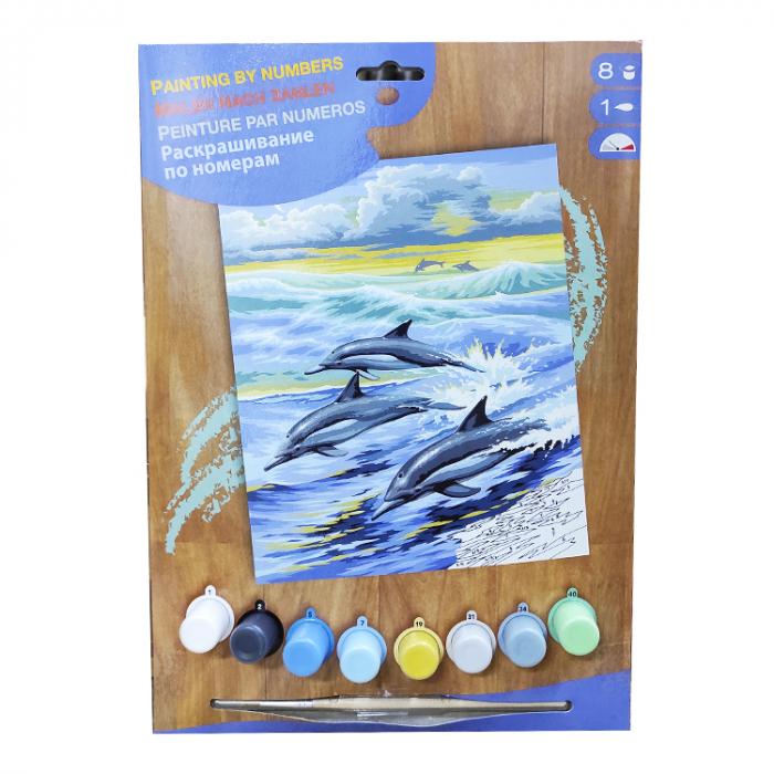 Set pictura pe numere cu delfini [0]