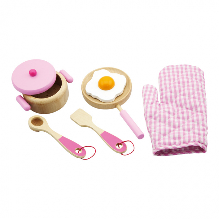 Set unelte de jucarie pentru gatit roz [0]