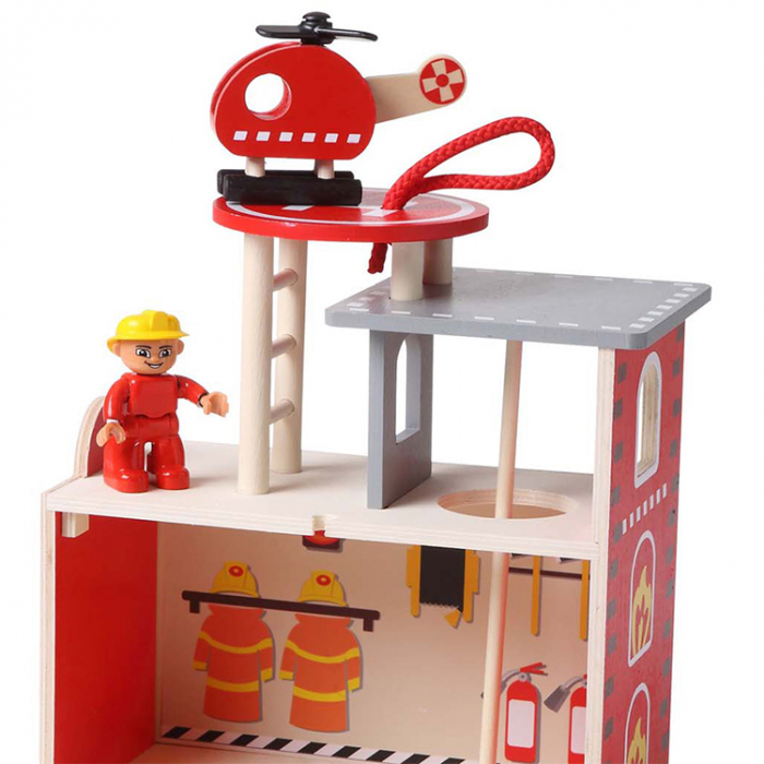 Statie pompieri din lemn [2]