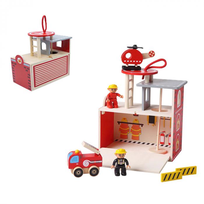 Statie pompieri din lemn [1]