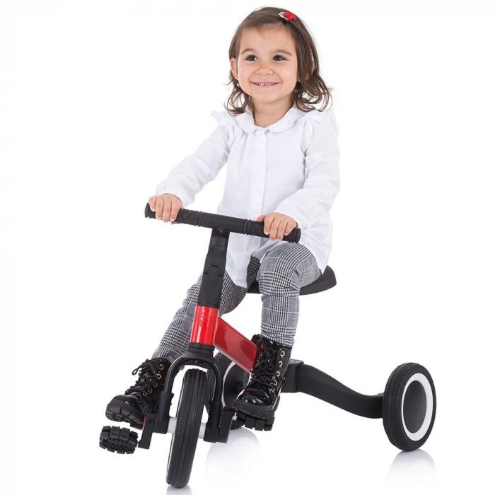 Tricicleta si Bicicleta 2 in 1 Smarty Chipolino Red [6]