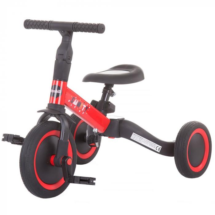 Tricicleta si Bicicleta 2 in 1 Smarty Chipolino Red [0]