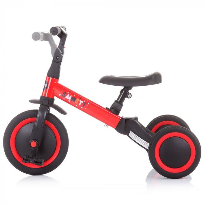 Tricicleta si Bicicleta 2 in 1 Smarty Chipolino Red [5]