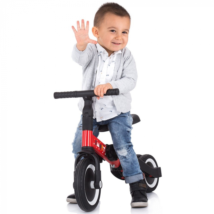 Tricicleta si Bicicleta 2 in 1 Smarty Chipolino Red [7]