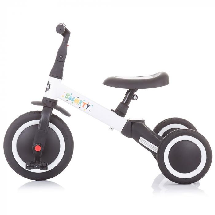 Tricicleta si Bicicleta 2 in 1 Smarty Chipolino White [4]