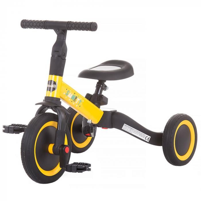Tricicleta si Bicicleta 2 in 1 Smarty Chipolino Yellow [0]