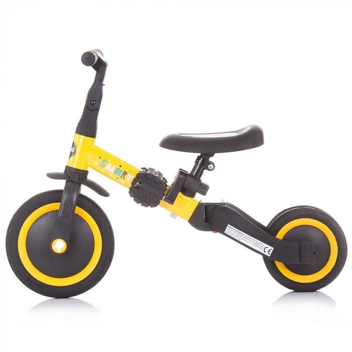 Tricicleta si Bicicleta 2 in 1 Smarty Chipolino Yellow [3]