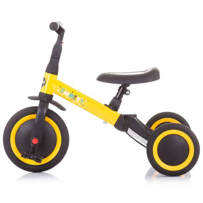 Tricicleta si Bicicleta 2 in 1 Smarty Chipolino Yellow [1]