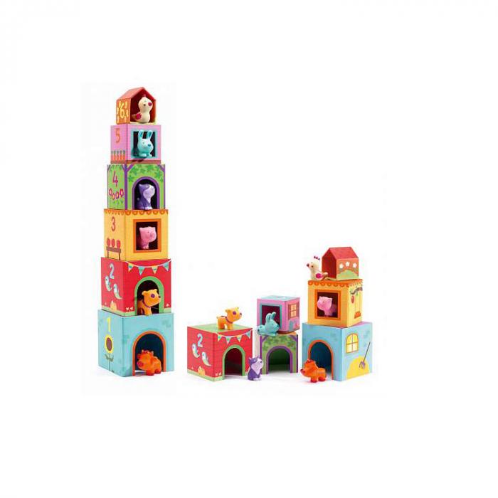 Turn de cuburi Topanifarm, Djeco [0]