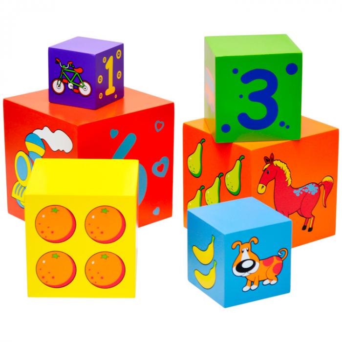 Turn de cuburi Turnul Babel, Viga Toys [3]