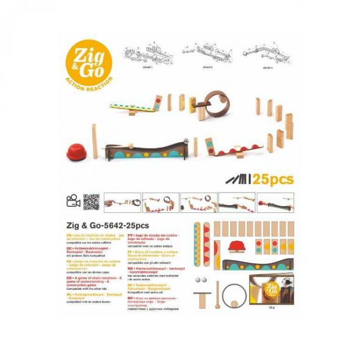 Zig & Go Djeco, set de constructie trasee, 25 piese [2]