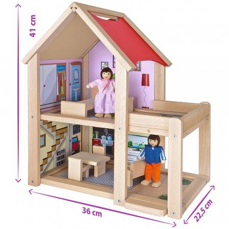 Casa de papusi din lemn cu mobilier si papusi, Eichhorn [7]