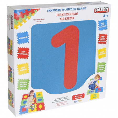 Covoras puzzle cu cifre pentru copii Pilsan Educational Polyethylene Play Mat [4]