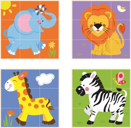 Cuburi din lemn Montessori – animale salbatice [1]