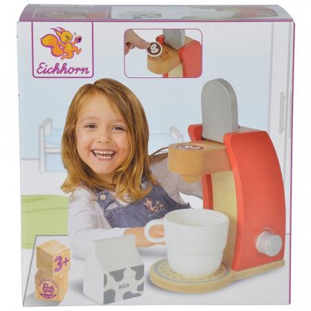 Jucarie espressor din lemn cu accesorii Eichhorn coffe machine [4]