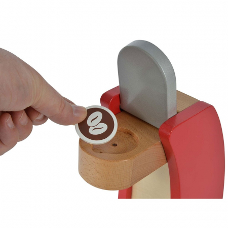 Jucarie espressor din lemn cu accesorii Eichhorn coffe machine [3]