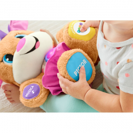 Jucarie Laugh and Learn Sis Catelusul vorbitor in limba romana Fisher Price [2]