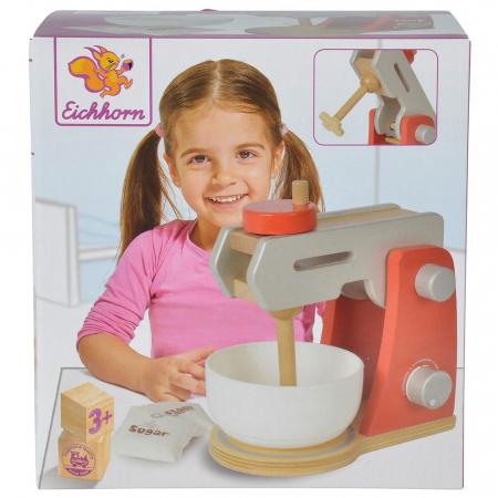 Jucarie mixer din lemn cu accesorii Eichhorn Food Mixer [3]