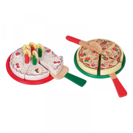 Jucarie pizza si tort din lemn [2]